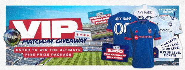 VIP MATCHDAY GIVEAWAY - ENTER TO WIN THE ULTIMATE FIRE PRIZE PACKAGE