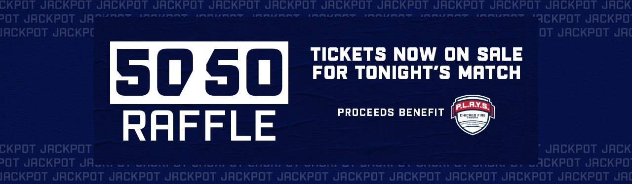 50/50 RAFFLE | TICKETS NOW ON SALE FOR TONIGHT'S MATCH