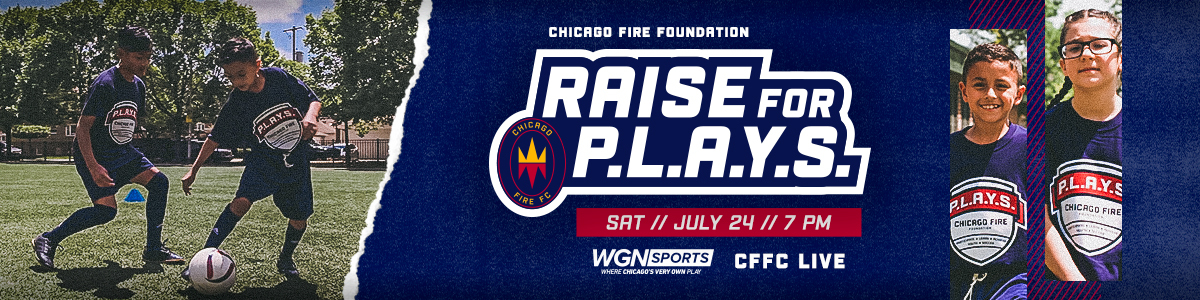 RAISE FOR P.L.A.Y.S. MATCH - SATURDAY // JULY 24 // 7 PM