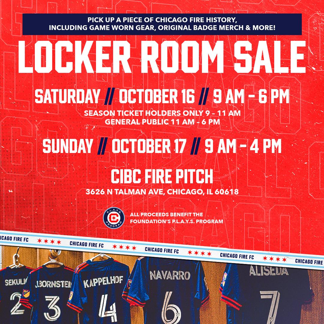 Chicago Fire FC Locker Room Sale