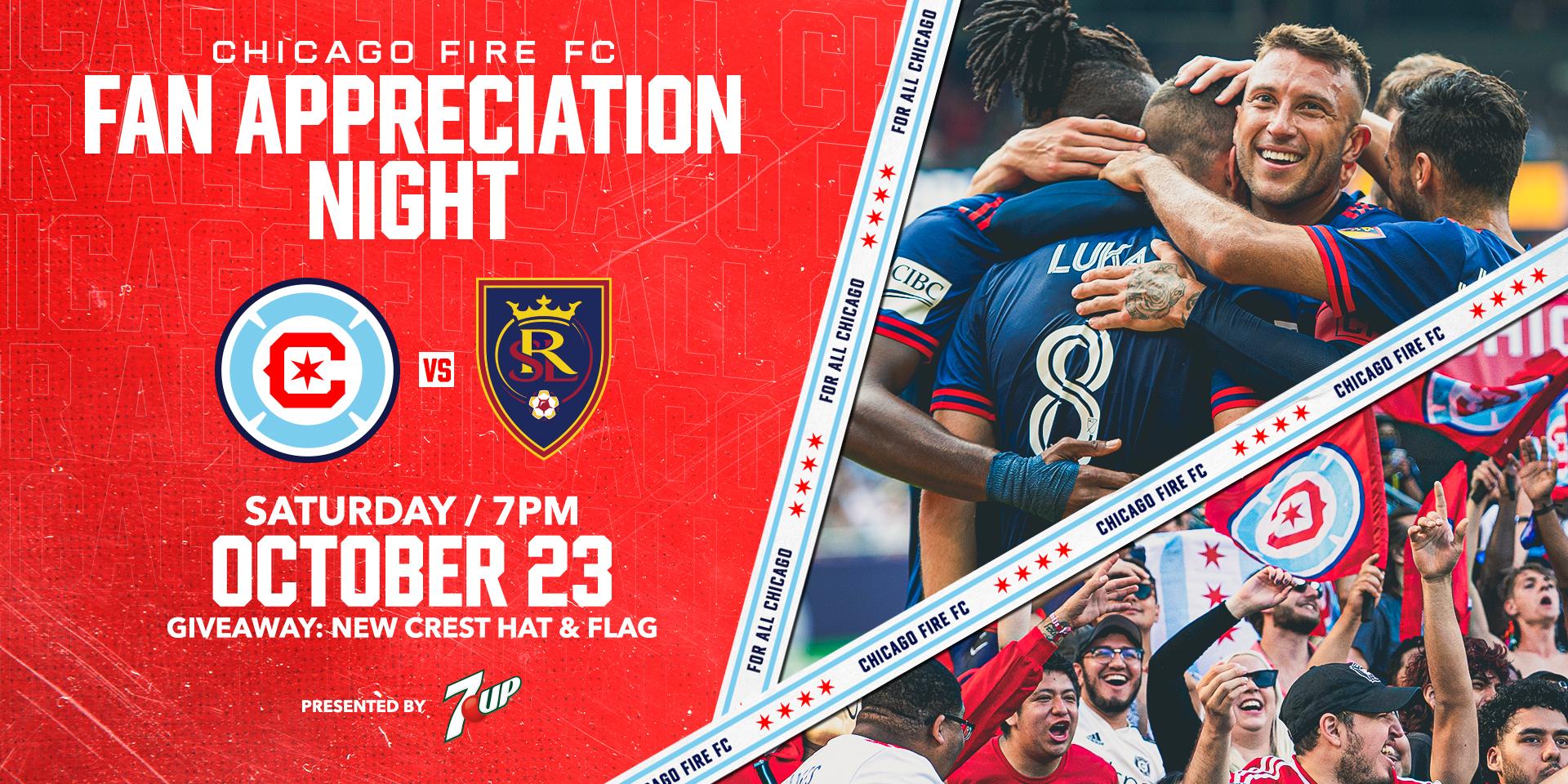 FAN APPRECIATION NIGHT - OCTOBER 23