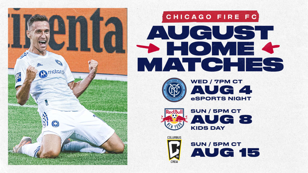 CFFC AUGUST HOME MATCHES -- NEW YORK CITY FC (AUG 4) // NEW YORK RED BULLS (AUG 8) // COLUMBUS CREW (AUG 15)