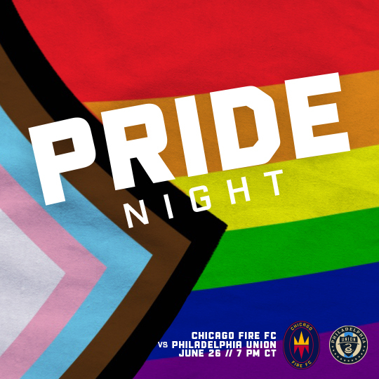 PRIDE NIGHT - CFFC VS PHILADELPHIA UNION - JUNE 26 AT 7 PM