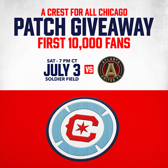 A CREST FOR ALL CHICAGO PATCH GIVEAWAY FOR THE FIRST 10,000 FANS
