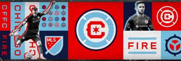 CHICAGO FIRE FC 2022 CREST WALL ART
