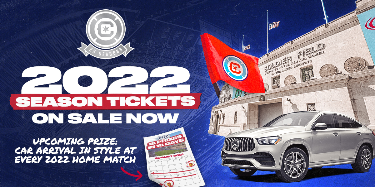 2022 SEASON TICKETS -- ON SALE NOW -- UPCOMING PRIZE: CAR ARRIVAL IN STYLE AT EVERY 2022 HOME MATCH